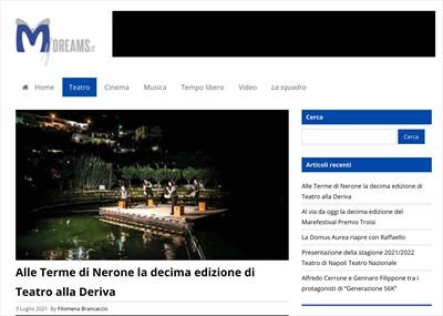 Alle Terme di Nerone la decima edizione di Teatro alla Deriva