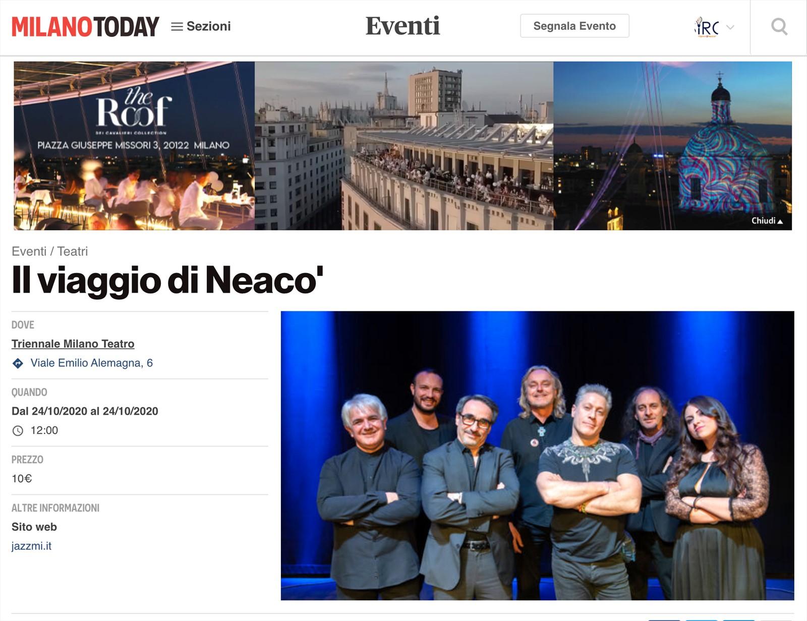 Il Viaggio di NeaCo' alla Triennale di Milano, ora anche su MilanoToday
