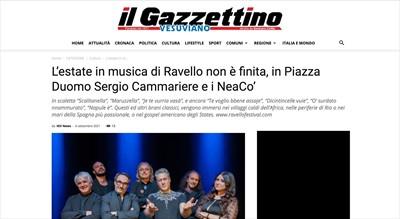 NEACO - STAMPA - L'estate in musica di Ravello non è finita, in Piazza Duomo Sergio Cammariere e i NeaCo'