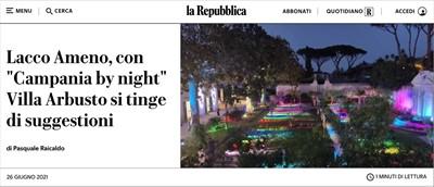 Lacco Ameno, con Campania by night Villa Arbusto si tinge di suggestioni