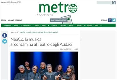 NeaCo', la musica si contamina al Teatro degli Audaci