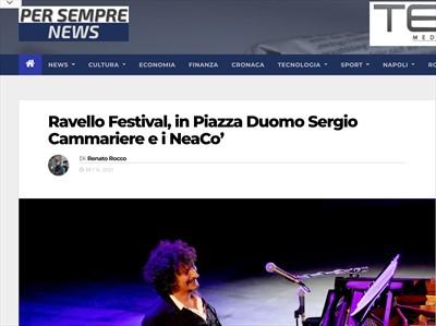 NEACO - STAMPA  - Ravello Festival, in Piazza Duomo Sergio Cammariere e i NeaCo'